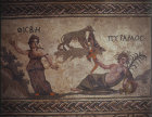 Paphos Cyprus Pyramus and Thisbe mosaic in a Roman Villa 3rd century AD