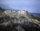 Kantara Castle, dating from twelfth century, aerial view from the south east, Northern Cyprus