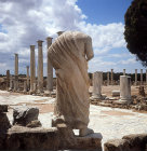 Statue at end of east portico of Palaestra, wrestling school, second century, Salamis, Northern Cyprus
