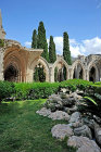 Bellapais Abbey, 1198-1205, cloisters seen from the west, Northern Cyprus