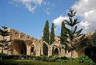 Bellapais Abbey, cloisters seen from the west, 1198-1205, Northern Cyprus