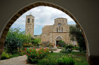Monastery of St Barnabas, Apostolos Varnavas, founded in the 5th century, destroyed by arab raiders in the 7th century, rebuilt 1756, Northern Cyprus