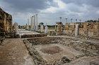 Roman-Byzantine gymnasium complex,  one of two pools and palaestra in the background, Salamis, Northern Cyprus