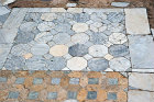 Part of a Byzantine opus sectile floor surrounding the palaestra in the Roman-Byzantine gymnasium complex, Salamis, Northern Cyprus