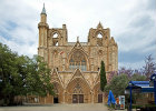 Lala Mustafa Pasha Camii, previously St Nicholas Cathedral, west front, 1298-1326, Famagusta, Northern Cyprus