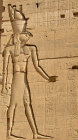 Horus, the falcon-headed god, bas-relief on pylon of Temple of Isis, Philae, Egypt