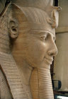 Egypt, Memphis, head of colossal statue of Ramesses II