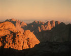 Sinai Mountains at sunrise, Egypt