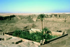 Egypt, Dendera, sacred lake seen from the roof of the temple