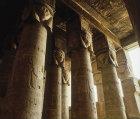 Roman hypostyle hall in Temple of Hathor, Dandara, Egypt
