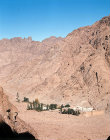 Egypt, St Catherines Monastery in the Sinai Mountains
