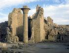 Egypt, Karnak, Temple of Amun, papyrus column, open