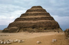 Egypt, Saqqara, Stepped Pyramid of Djoser, first king of third dynasty, twentyseventh century BC, built by architect Imhotep, and Temple