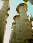 Egypt, Karnak, Temple of Amun, a view of the columns in the hypostyle Hall