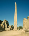 Egypt, Karnak, Temple of Amun, granite obelisk erected by Thutmose I, 1st dynasty, central court