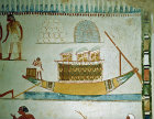 Egypt, Thebes, ship with cargo of stores, wall painting,  tomb of Menna, tomb no 69, circa 1422-1411 BC