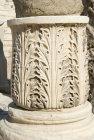 Egypt, Alexandria, Kom al-Dikka, fourth century Roman amphitheatre, carved column base