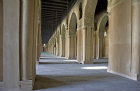 Egypt, Cairo, ninth century mosque of Ahmad Ibn Tulun, Abbasid governor of Egypt, 868-84, arches in main prayer hall