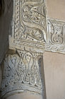 Egypt, Cairo, ninth century mosque of Ahmad Ibn Tulun, Abbasid governor of Egypt, 868-84, detail of geometric foliate stucco decoration in main prayer hall