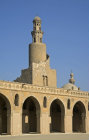 Egypt, Cairo, ninth century mosque of Ahmad Ibn Tulun, Abbasid governor of Egypt, 868-84, helical minaret on NW side of mosque courtyard