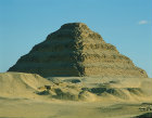 Egypt, Saqqara, stepped pyramid of Djoser, first king of third dynasty, 2686 BC, built by the architect Imhotep