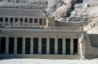 Egypt, Thebes, section of the Mortuary Temple of Queen Hatshepsut in the Valley of the Kings, eighteenth dynasty