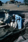 Egypt excavating the Basilica of St Pachomius near Nag Hammadi on the East Bank of the Nile