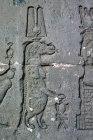 Sobek, the crocodile god, sunk relief on east wall of temple of Hathor, Dandara, Egypt
