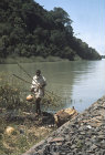 Ethiopia, Lake Tana, source of the Blue Nile, Amhara region, North West Ethiopian Highlands, with fisherman