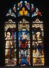 St Christopher window, 16th century stained glass, Church of St Martin, Montmorency, France