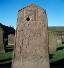 Back of a pictish cross Aberlemno near Forfar Scotland 8th century