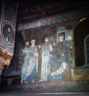 St Paul before Nero, Palermo Palatine Chapel 12th century mosaic
