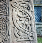 Detail from 8th century pictish cross-slab Aberlemno Angus Scotland