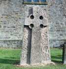 Pictish Cross-slab 8th century Aberlemno Church near Forfar Angus Scotland