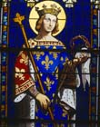 St Louis, 19th century stained glass, Chapelle Royale, Church of Saint Louis, Dreux, France