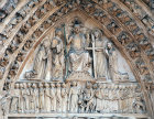 Last Judgement, circa 1225-1230, central tympanum, west end, Notre Dame, Paris, France