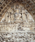 France, Paris, Notre Dame, west front central porch, the Last Judgement