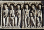 Chartres, Royal Portal, centre bay, 6 of 12 apostles 12th century