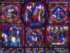Details of the life of St Martin, window number 24, thirteenth century, Chartres Cathedral, Chartres, France
