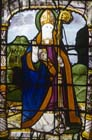St Anianus Bishop of Orleans, died 453, Bishops window, 16th century stained glass, Church of St Aignan, Chartres, France