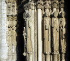 Chartres, Kings and Queens of Judah, left jamb, centre bay, Royal Portal 12th century