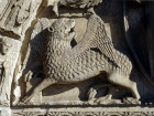 Chartres, Royal Portal, centre bay, the lion, symbol of St Mark 12th century