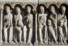 Six Apostles, central bay, Royal Portal, Chartres Cathedral, France