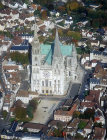 Aerial view from west, Chartres Cathedral, France