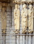 Chartres, North Porch, central bay, left jamb, Elisha - far left Melchizedek, Abraham