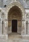 Chartres Cathedral, north porch, right bay, thirteenth century architectural sculpture