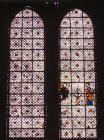 Grisaille window with Annunciation, fourteenth century, Chartres Cathedral, France