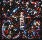 The Son of Man, detail from the Apocalypse window, thirteenth century, Bourges Cathedral, Bourges, France