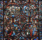 Passion window, thirteenth century, Bourges Cathedral, France