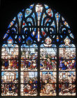 France, Bourges, Saints Lawrence and Stephen, 1518 window by Lescuver in the Bonne Mort Chapel
